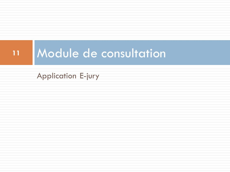 Module de consultation