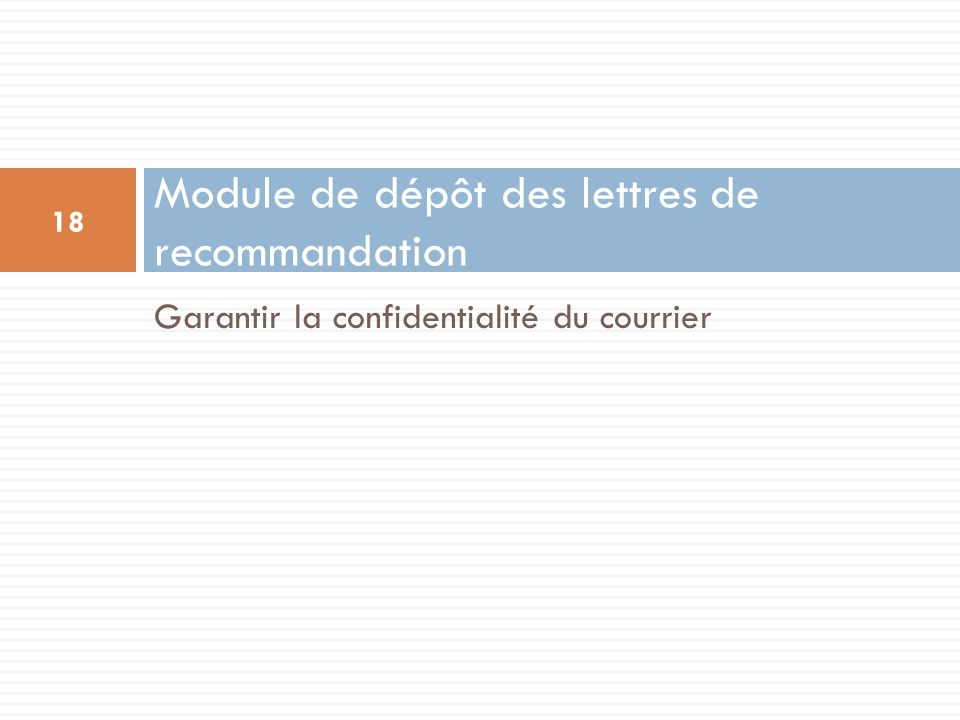 Module de dépôt des lettres de recommandation