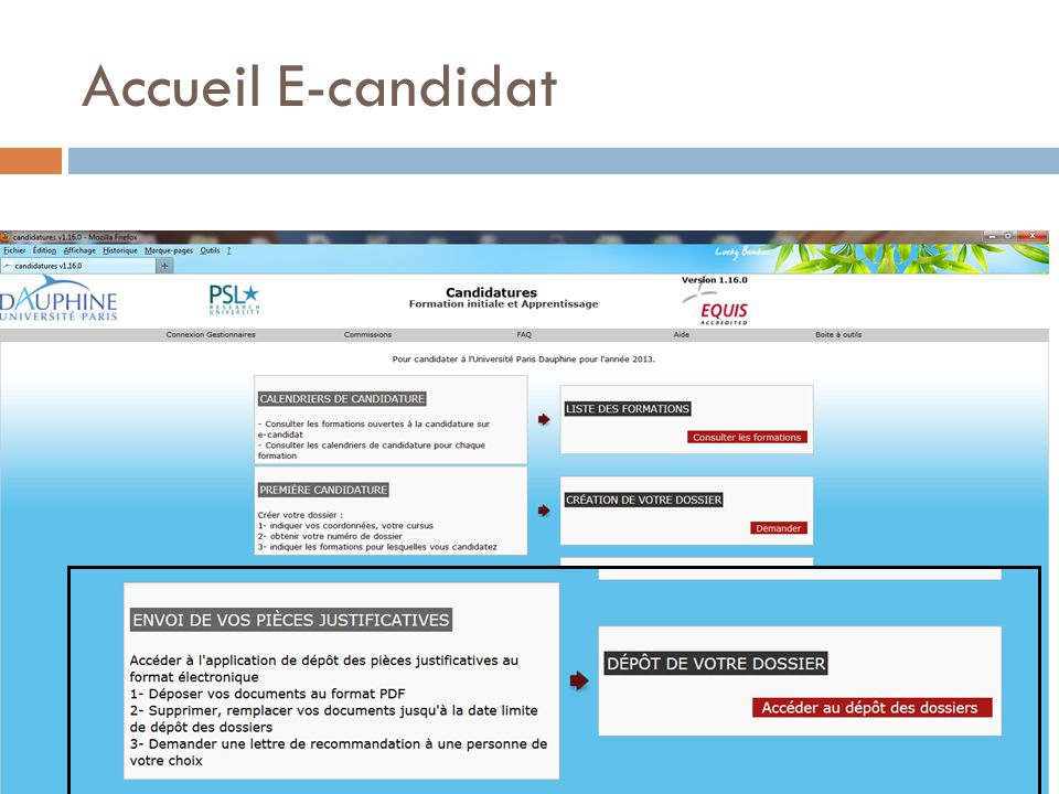 Accueil E-candidat