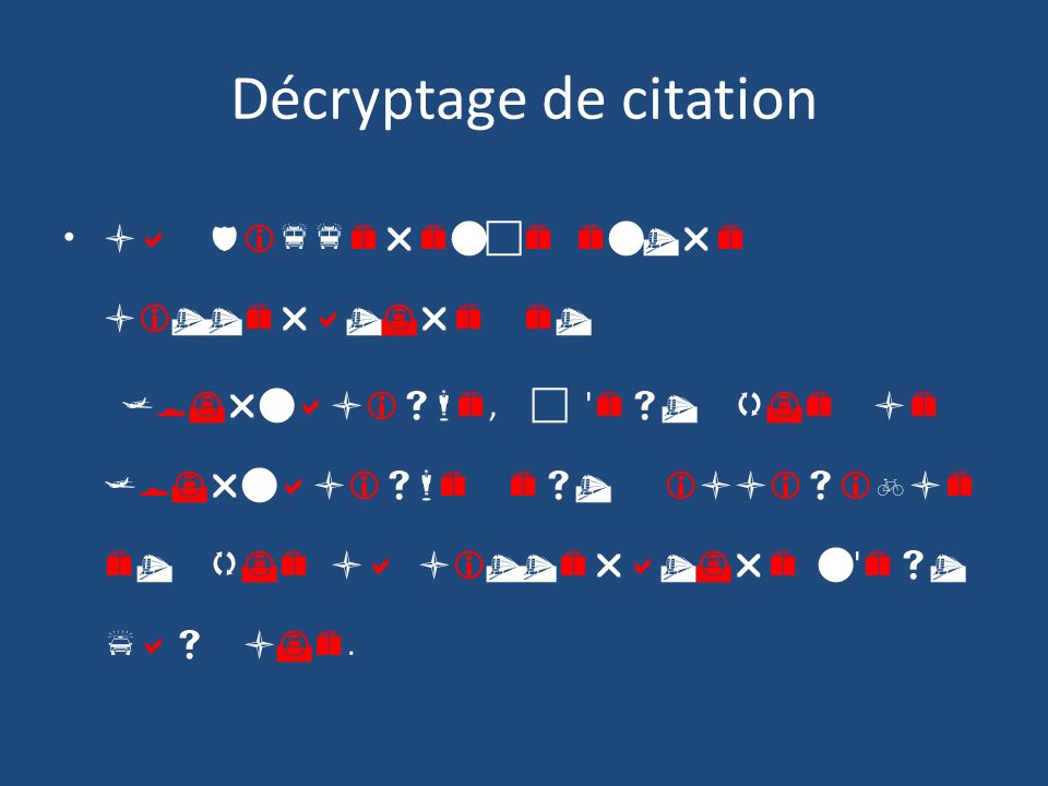 Décryptage de citation