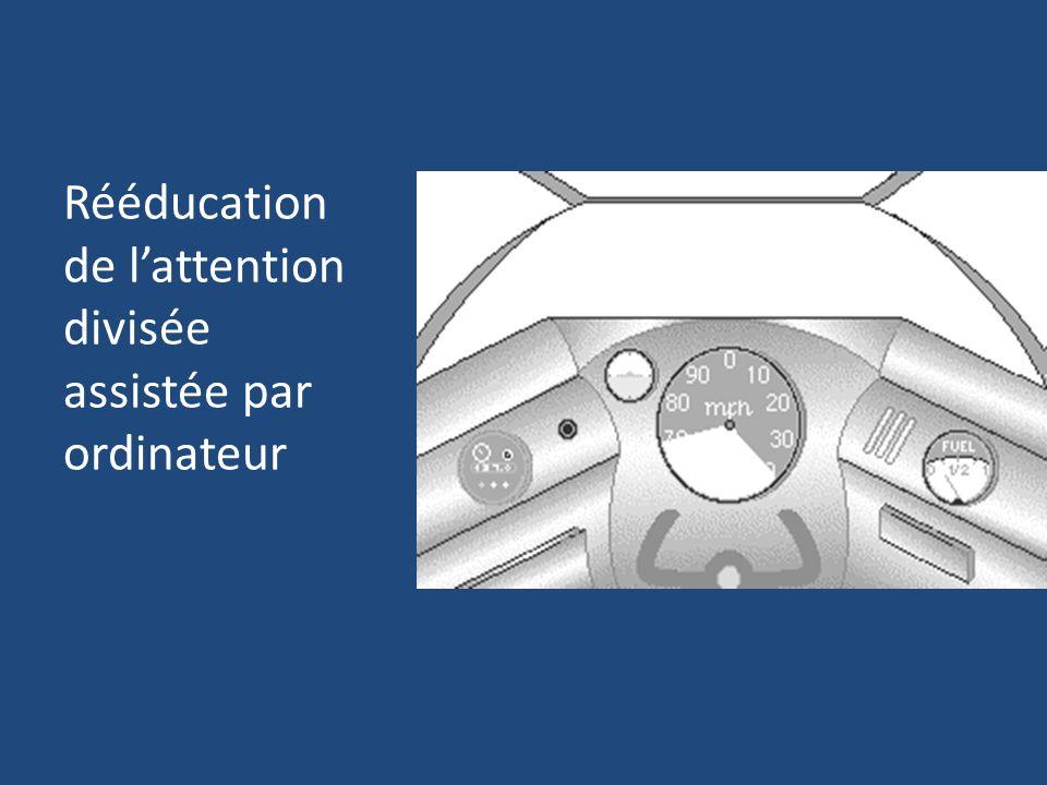 Rééducation de l'attention divisée assistée par ordinateur