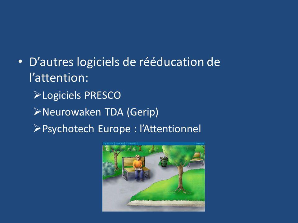 D'autres logiciels de rééducation de l'attention: