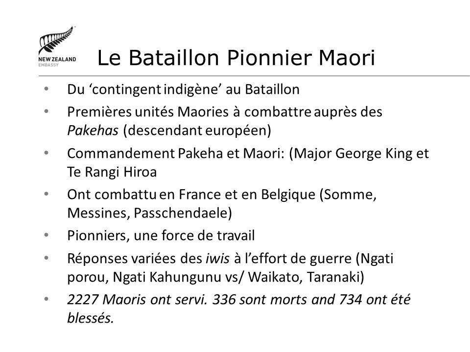 Le Bataillon Pionnier Maori