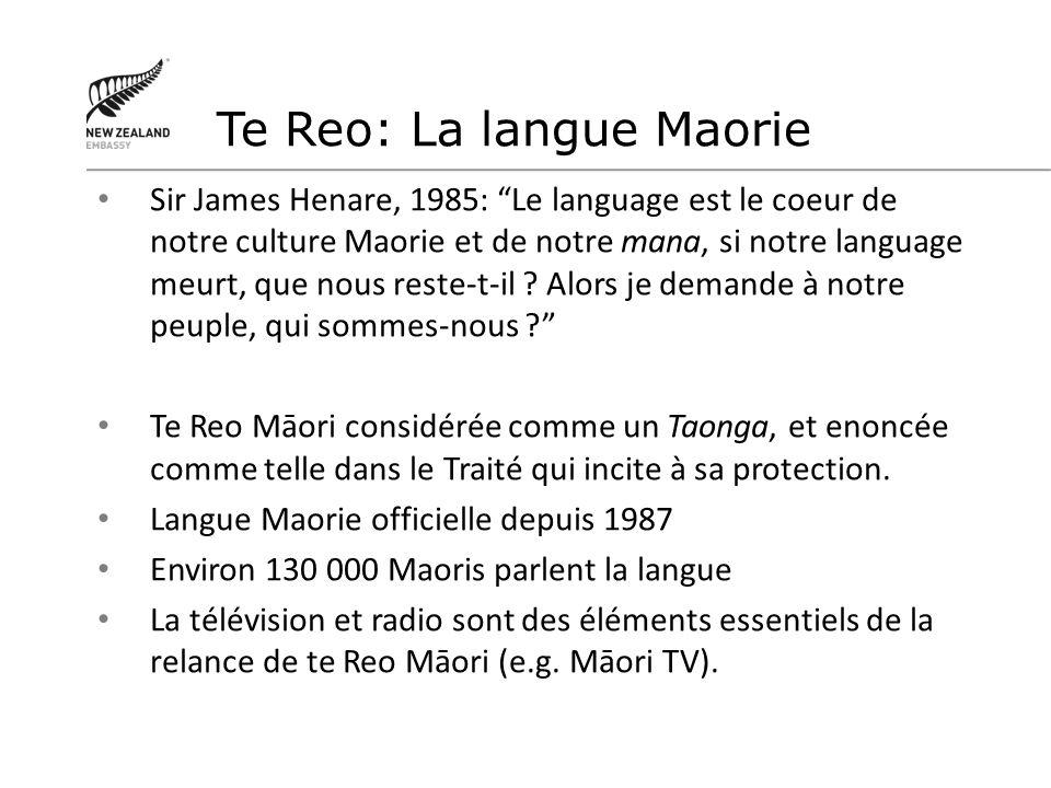 Te Reo: La langue Maorie