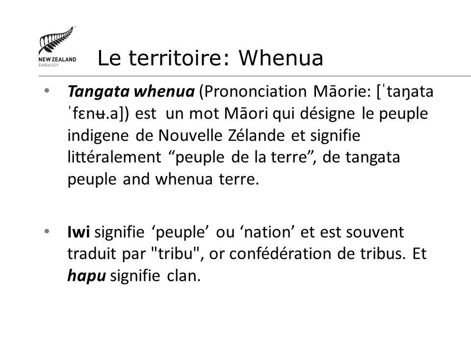 Le territoire: Whenua