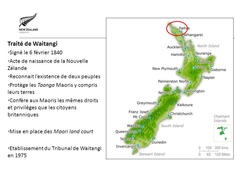 Traité de Waitangi Signé le 6 février 1840