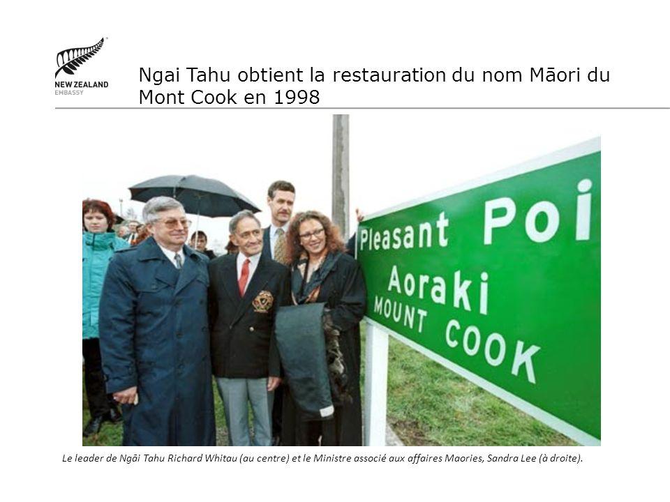 Ngai Tahu obtient la restauration du nom Māori du Mont Cook en 1998