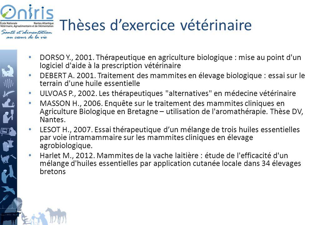 Thèses d'exercice vétérinaire