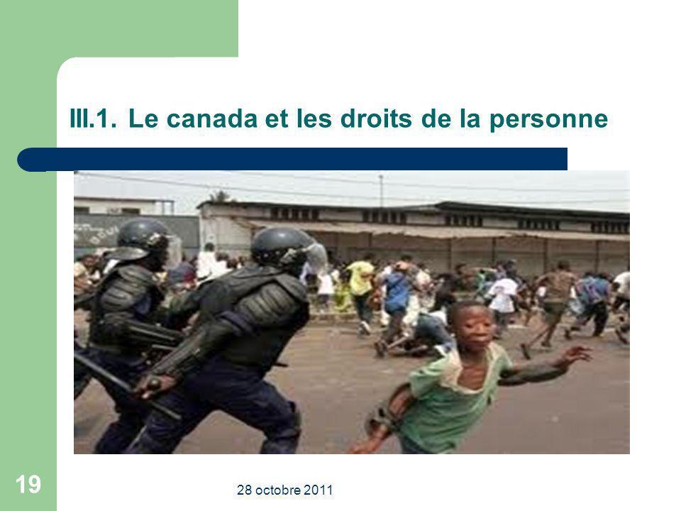 III.1. Le canada et les droits de la personne