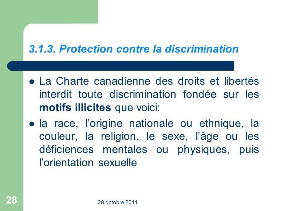 3.1.3. Protection contre la discrimination