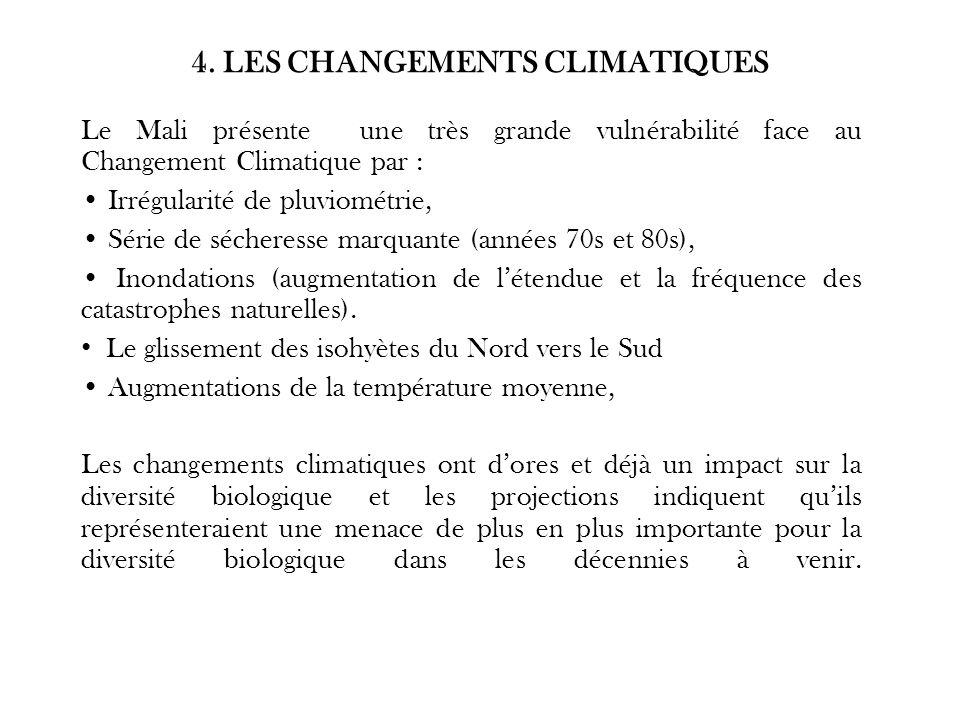4. LES CHANGEMENTS CLIMATIQUES