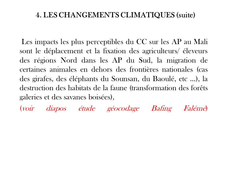 4. LES CHANGEMENTS CLIMATIQUES (suite)