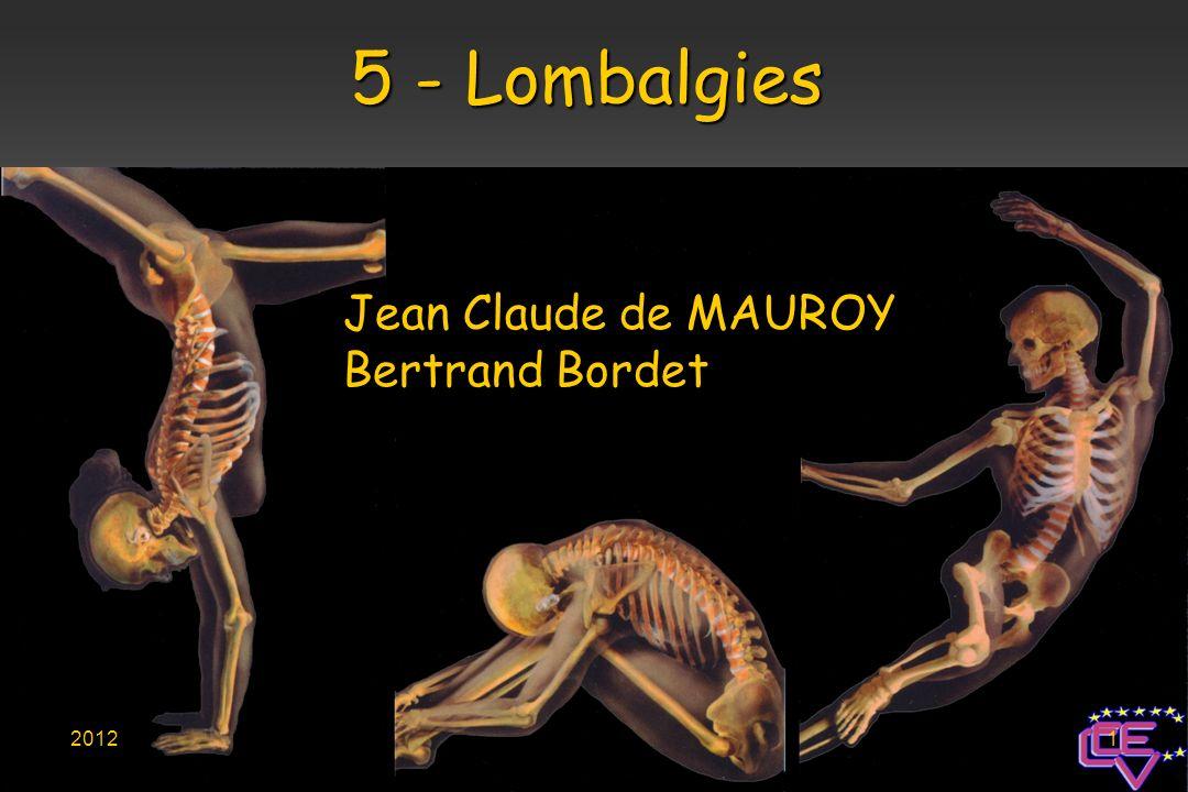 5 - Lombalgies Jean Claude de MAUROY Bertrand Bordet 2012