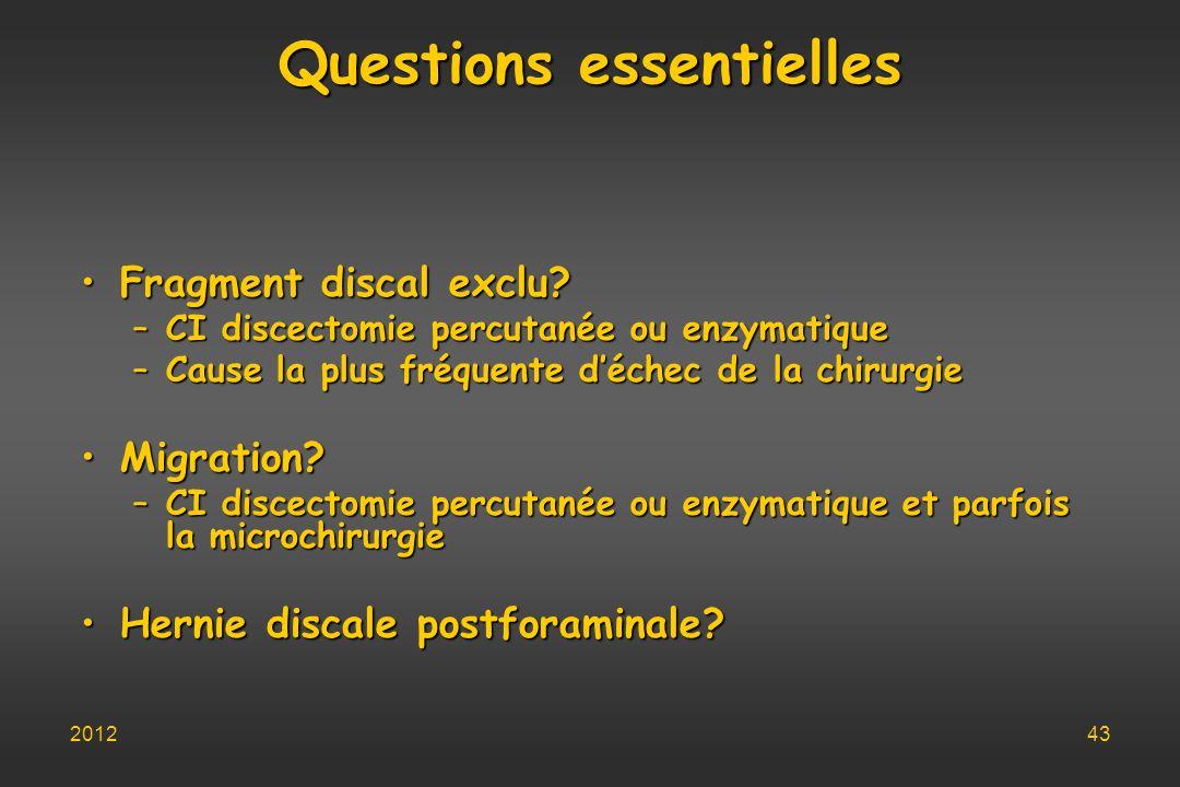 Questions essentielles