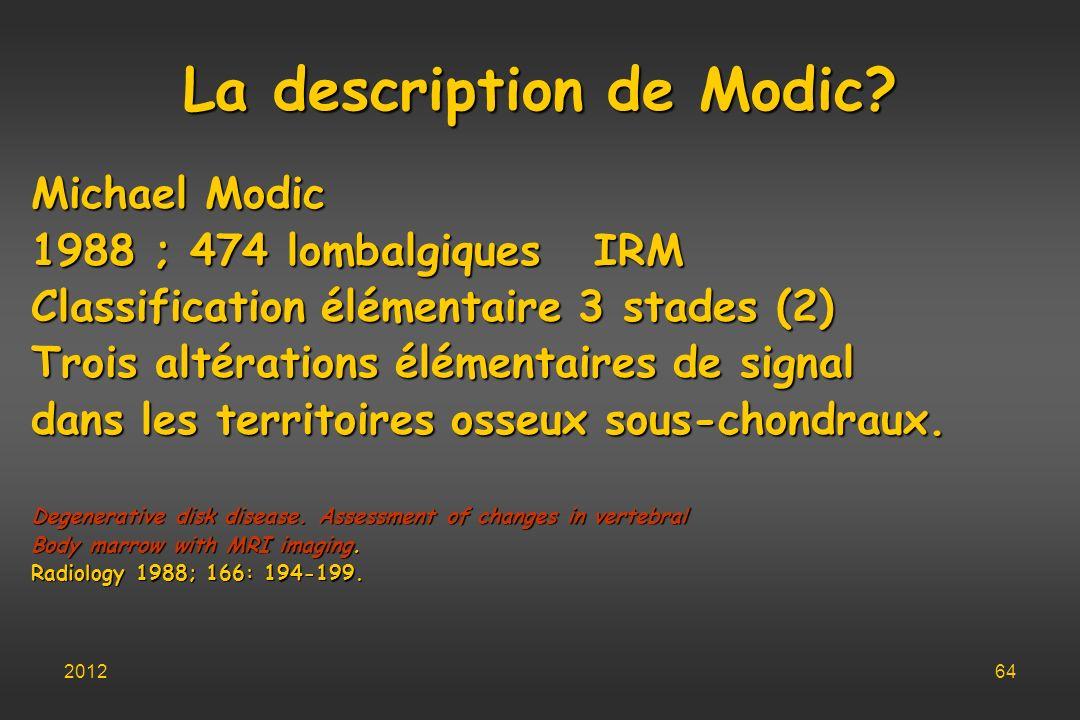 La description de Modic