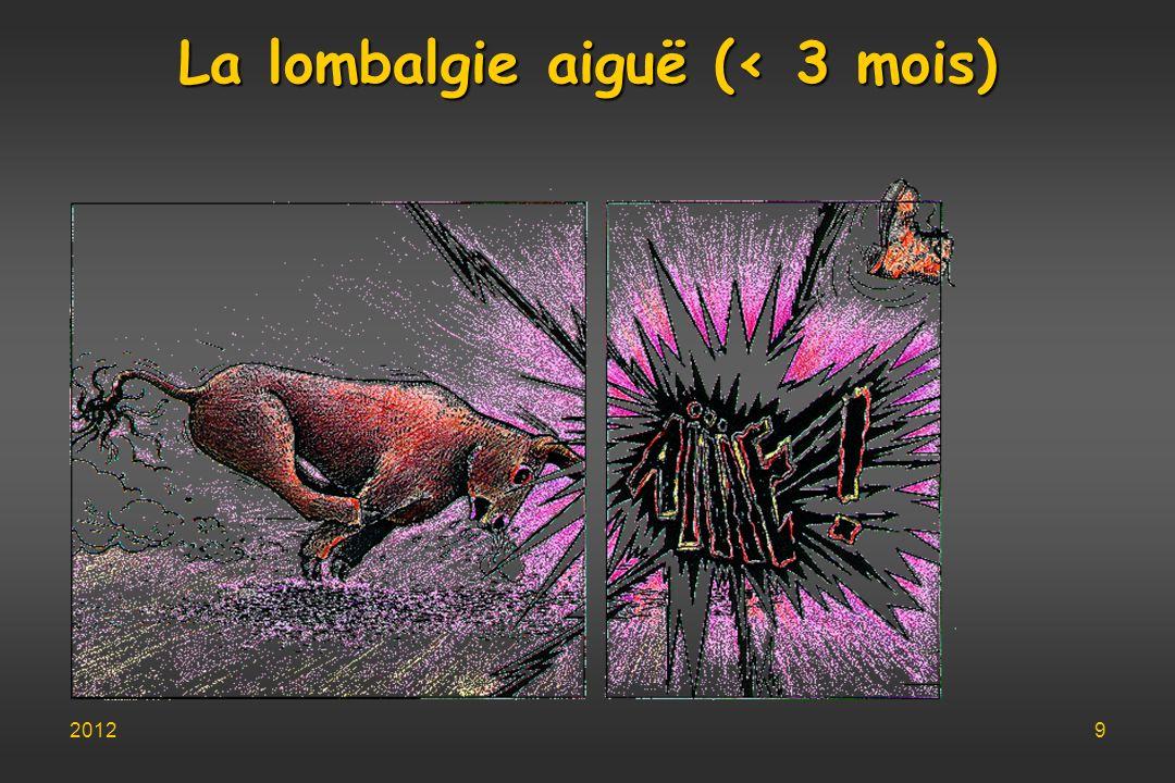 La lombalgie aiguë (< 3 mois)