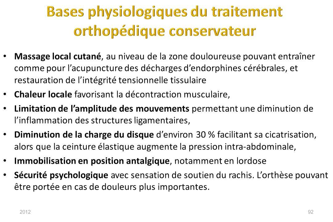 Bases physiologiques du traitement orthopédique conservateur