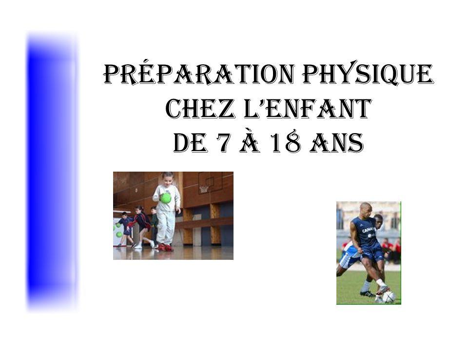 Préparation Physique chez l'enfant de 7 à 18 ans