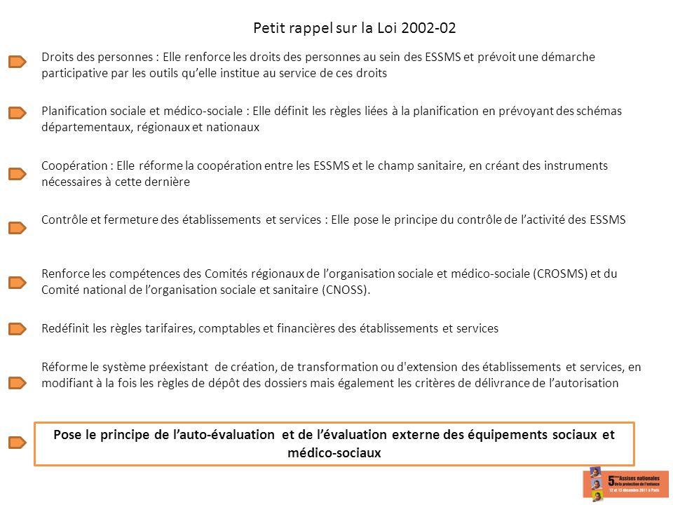Petit rappel sur la Loi 2002-02