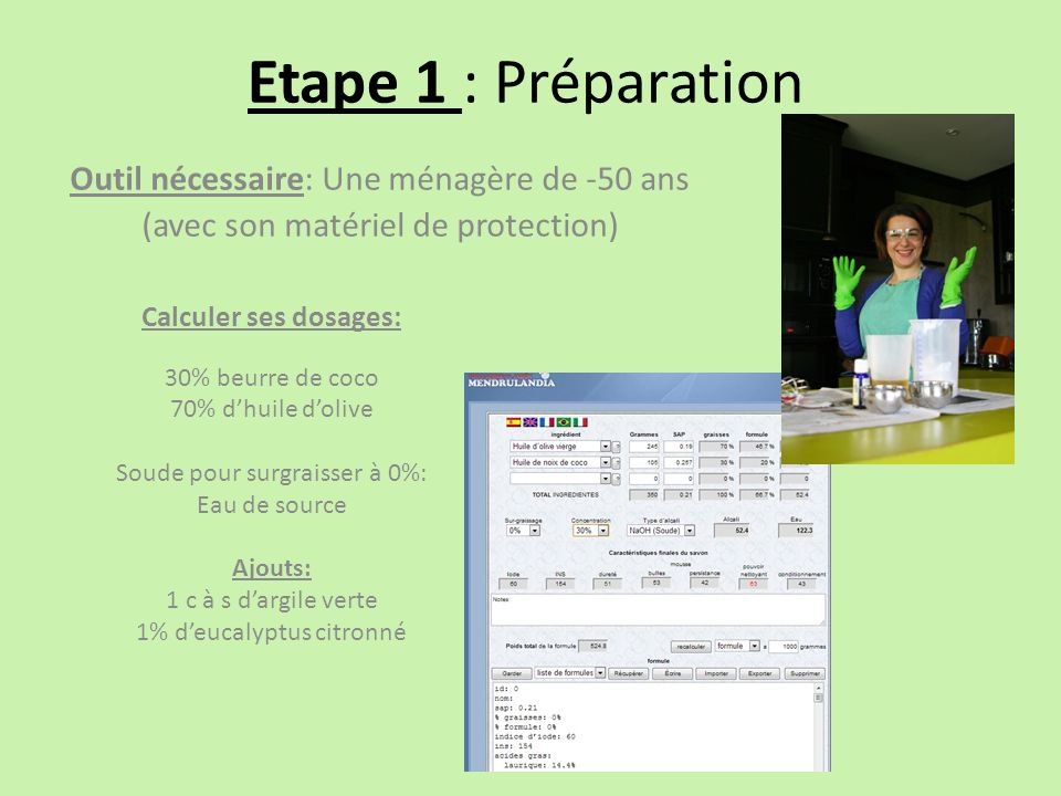 Etape 1 : Préparation Outil nécessaire: Une ménagère de -50 ans