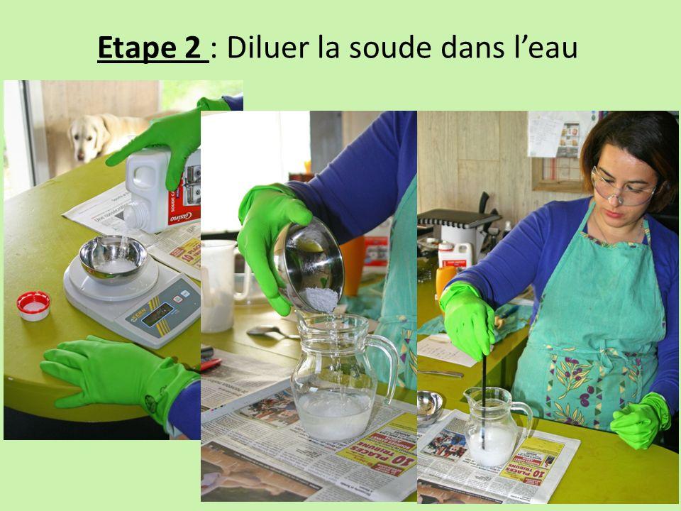 Etape 2 : Diluer la soude dans l'eau