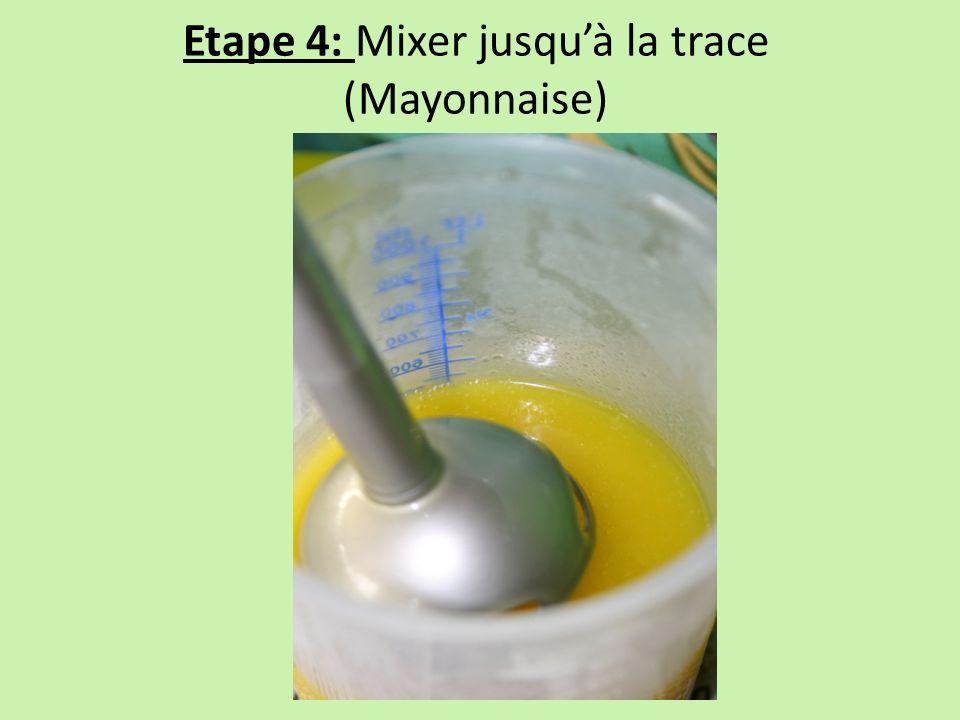 Etape 4: Mixer jusqu'à la trace (Mayonnaise)