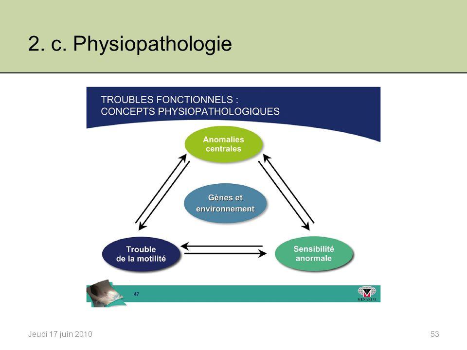 2. c. Physiopathologie Jeudi 17 juin 2010