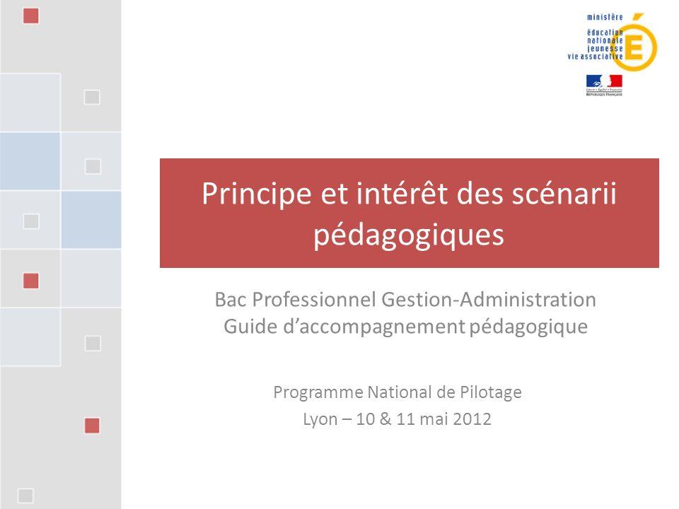Principe et intérêt des scénarii pédagogiques