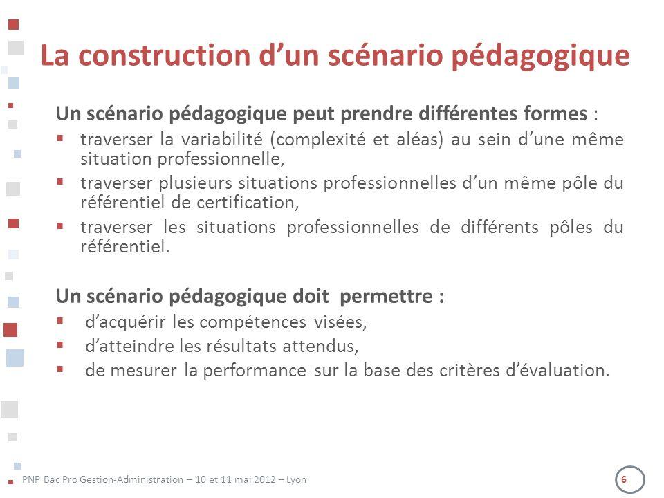 La construction d'un scénario pédagogique
