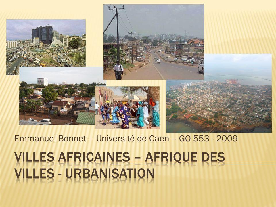 Villes africaines – Afrique des villes - urbanisation