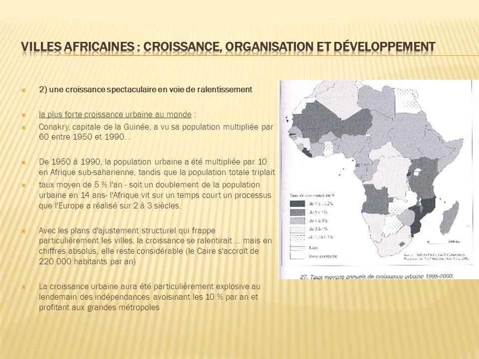 Villes africaines : croissance, organisation et développement