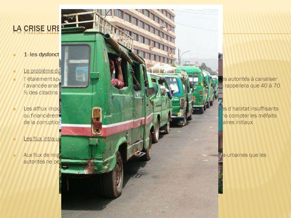 La crise urbaine 1- les dysfonctionnements de la ville africaine