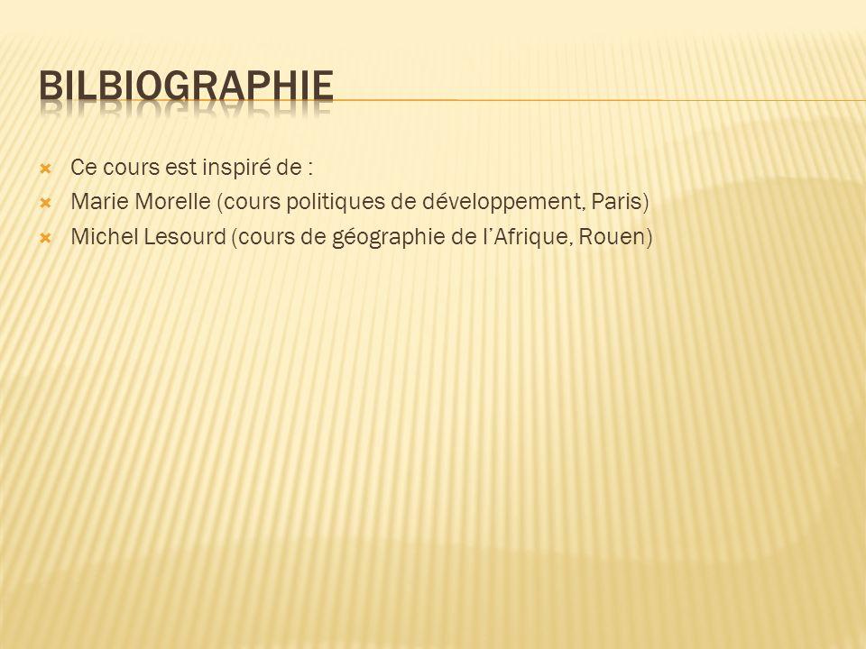 Bilbiographie Ce cours est inspiré de :