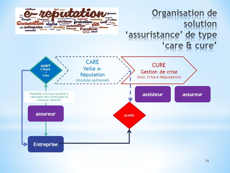 Organisation de solution 'assuristance' de type 'care & cure'