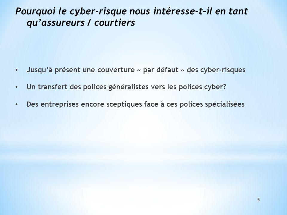 Pourquoi le cyber-risque nous intéresse-t-il en tant qu'assureurs / courtiers