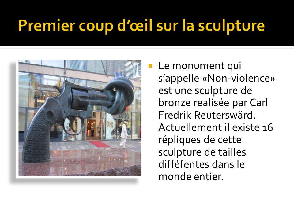 Premier coup d'œil sur la sculpture