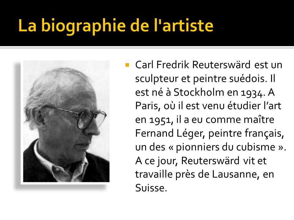 La biographie de l artiste