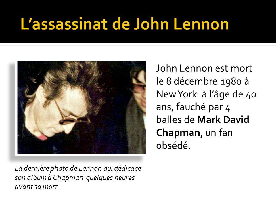L'assassinat de John Lennon