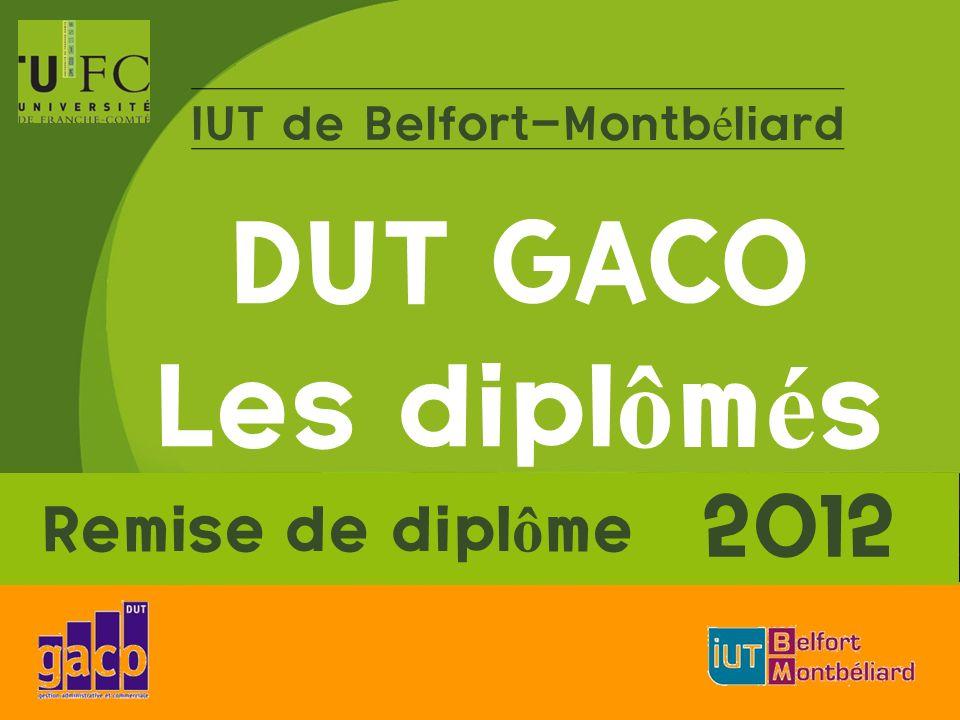 IUT de Belfort-Montbéliard DUT GACO Les diplômés