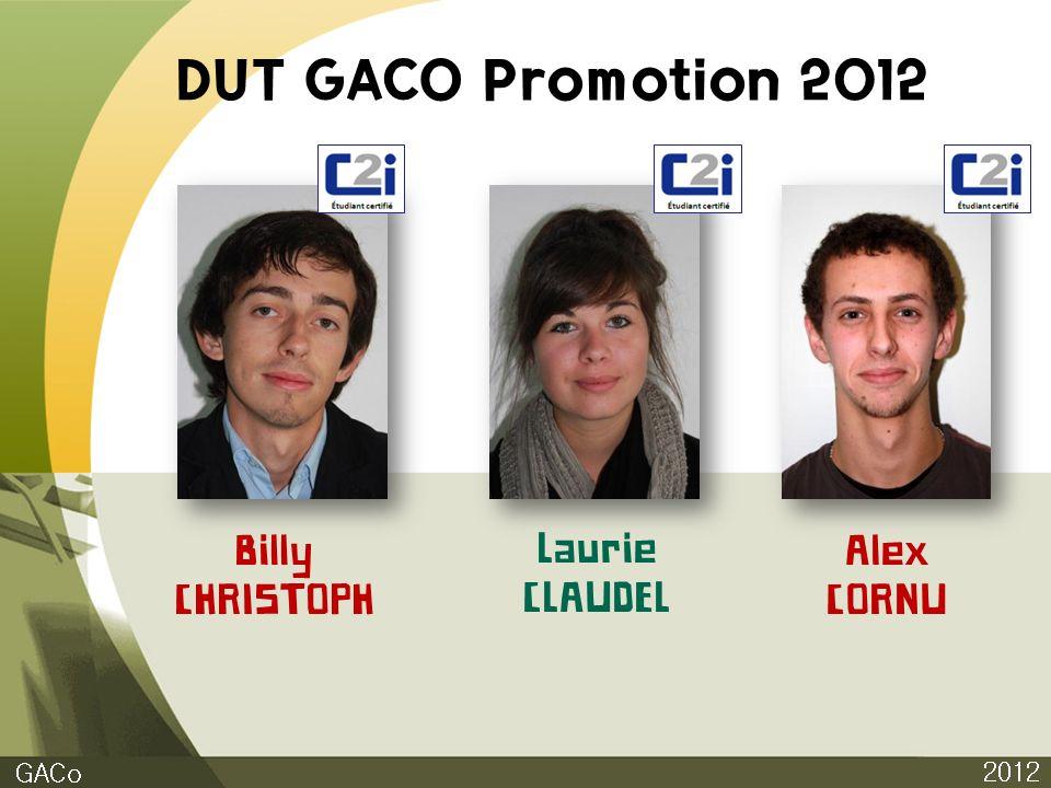 DUT GACO Promotion 2012 Billy CHRISTOPH Laurie CLAUDEL Alex CORNU GACo
