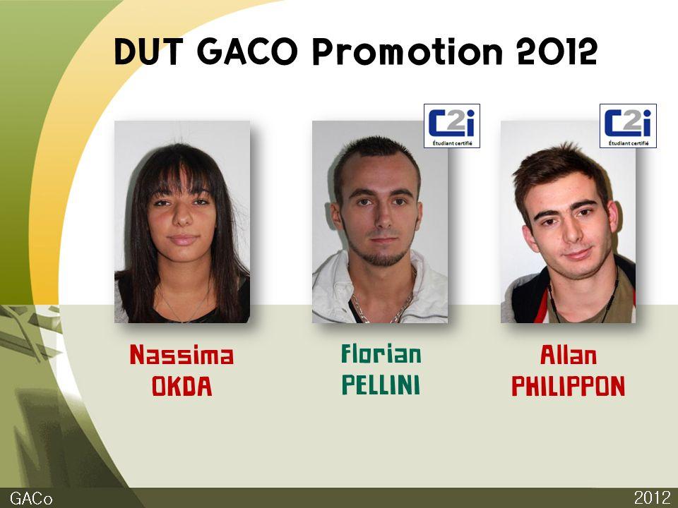 DUT GACO Promotion 2012 Nassima OKDA Florian PELLINI Allan PHILIPPON
