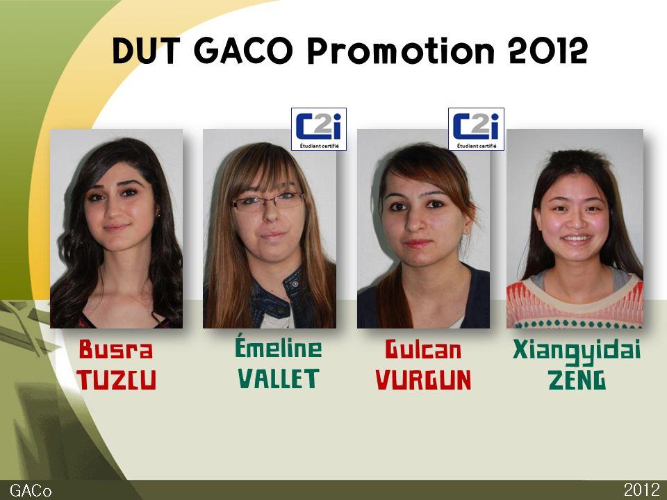 DUT GACO Promotion 2012 Busra TUZCU Émeline VALLET Gulcan VURGUN