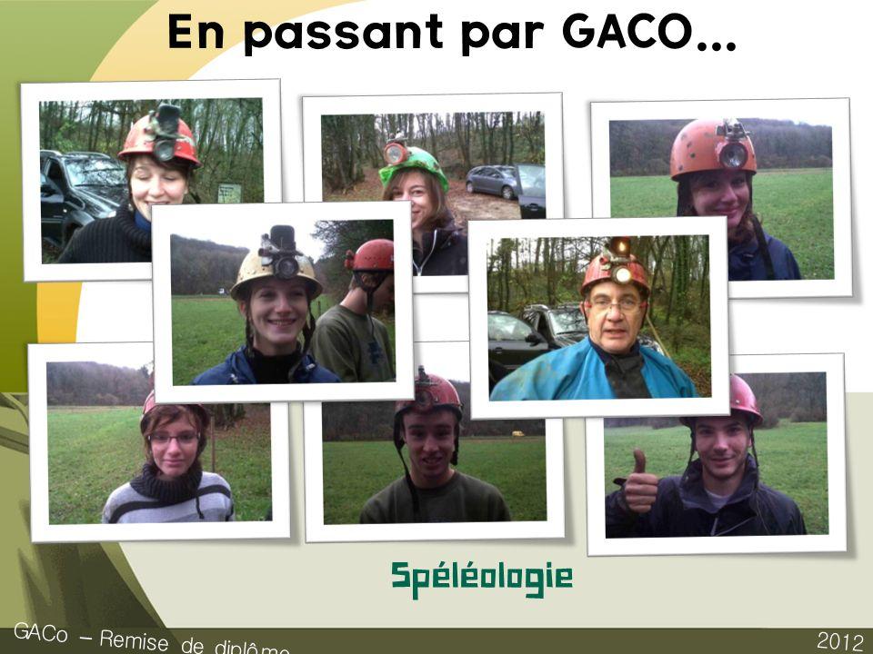 En passant par GACO... Spéléologie GACo – Remise de diplôme 2012