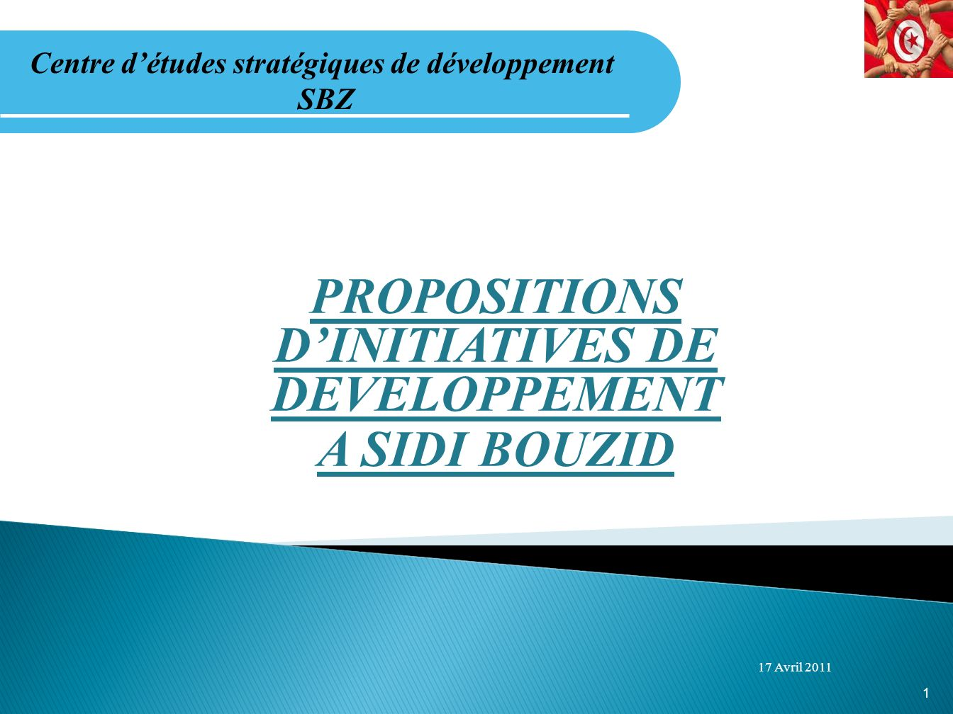 PROPOSITIONS D'INITIATIVES DE DEVELOPPEMENT A SIDI BOUZID