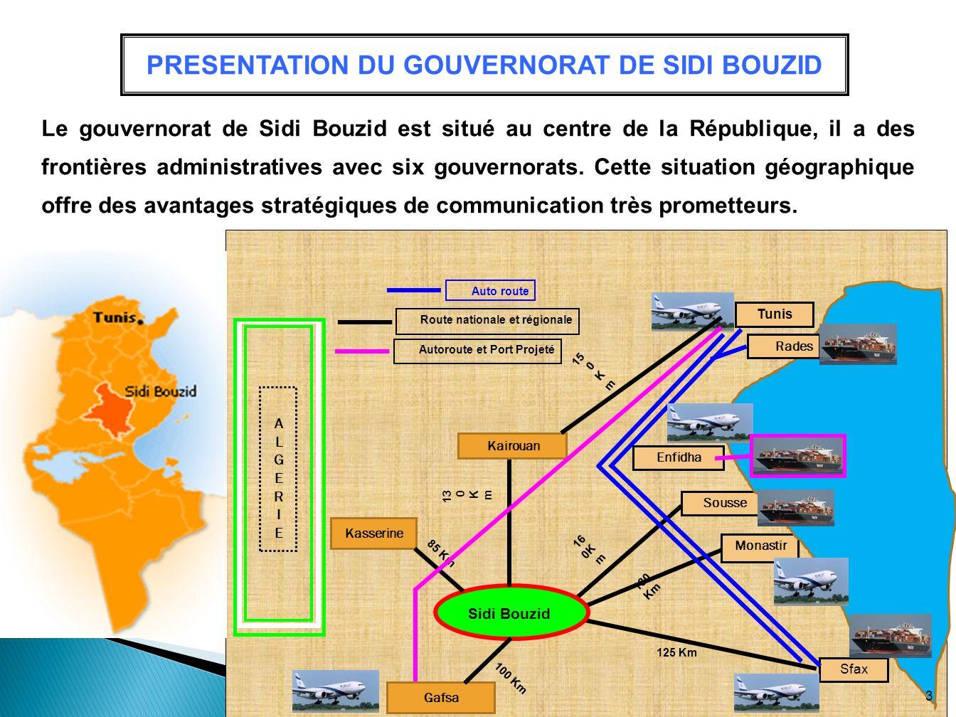 PRESENTATION DU GOUVERNORAT DE SIDI BOUZID
