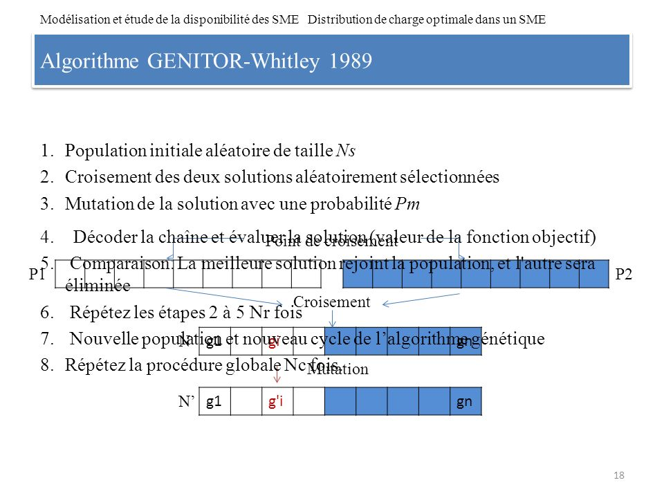 Algorithme GENITOR-Whitley 1989