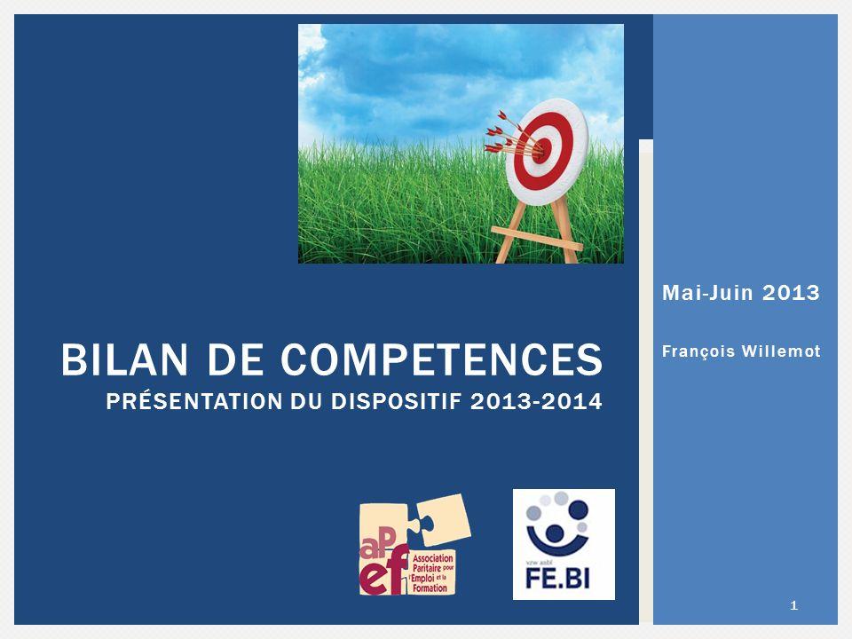 Bilan de competences présentation du dispositif 2013-2014