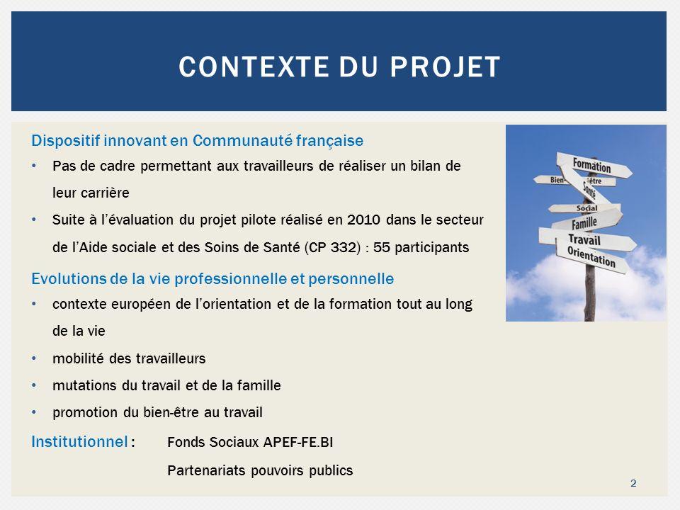 Contexte du projet Dispositif innovant en Communauté française