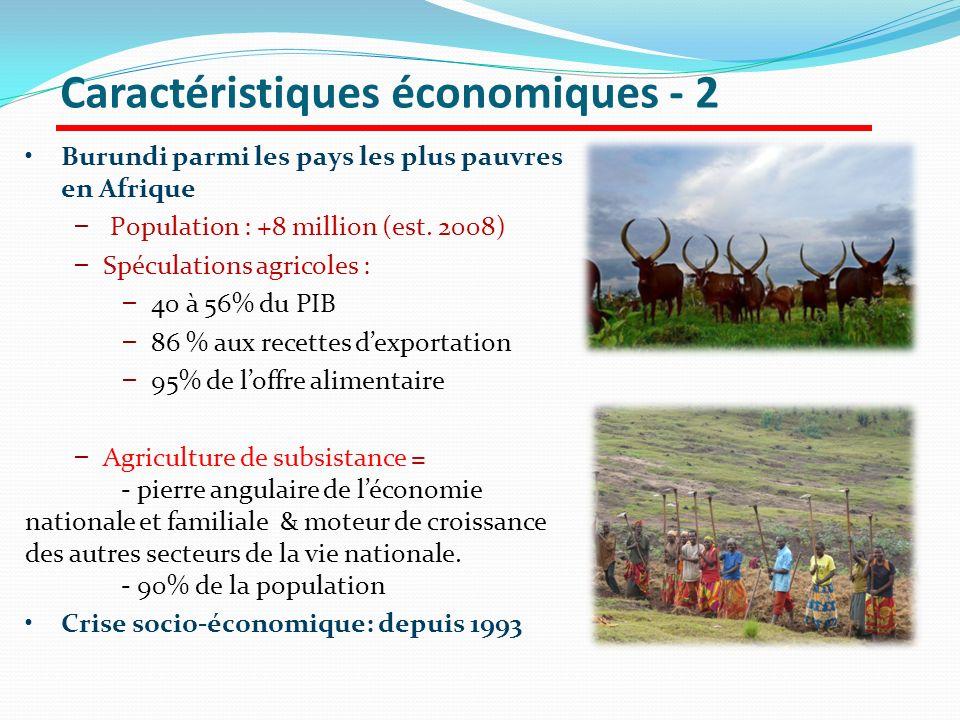 Caractéristiques économiques - 2