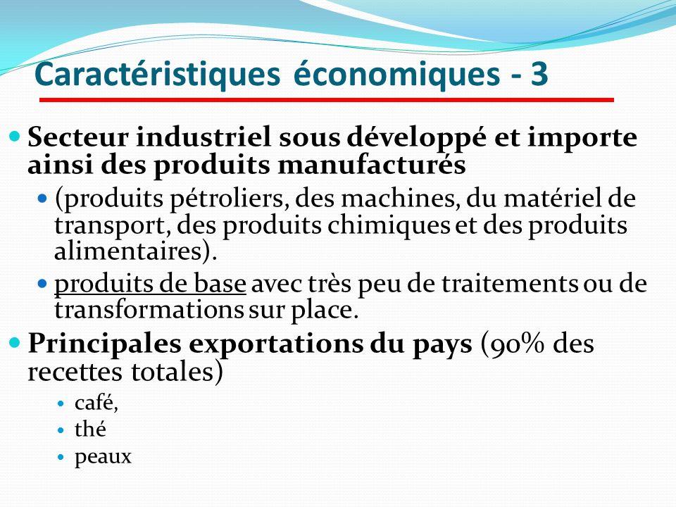 Caractéristiques économiques - 3